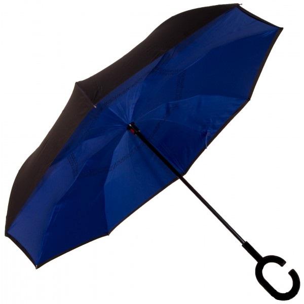 Зонт Наоборот, Цвет: Фиолетовый однотонный