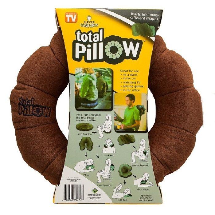 Подушка-Трансформер Для Путешествий Total Pillow (Тотал Пиллоу), Цвет Коричневый