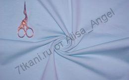 Голубая лазурь рибана с лайкрой