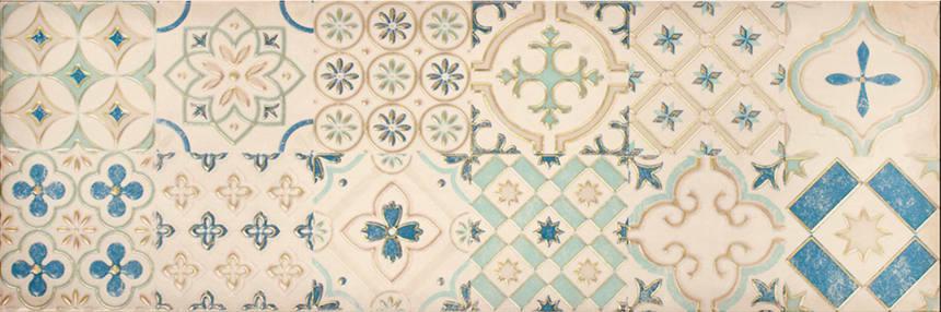 1664-0178 Настенная плитка декор Парижанка 20x60 мозаика