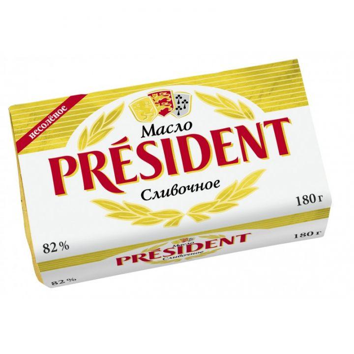 Масло Президент Традиц кисло-слив 82%180г Президент