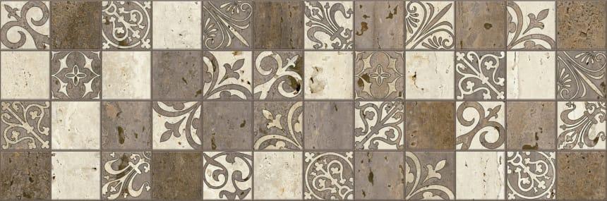 3064-0002 Керамогранит декор Травертино 20х60 мозаика