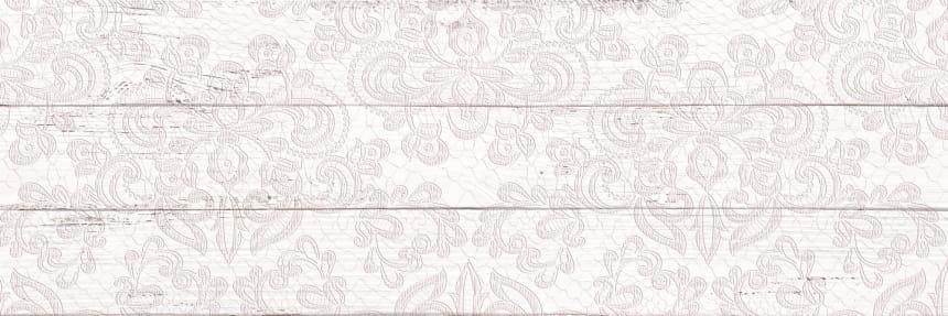 1064-0097 Настенная плитка Шебби Шик декор 20х60 белая
