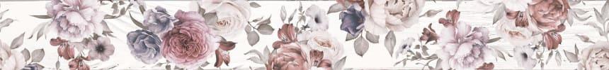 1506-0018 Бордюр настенный Шебби Шик 7x60 белый