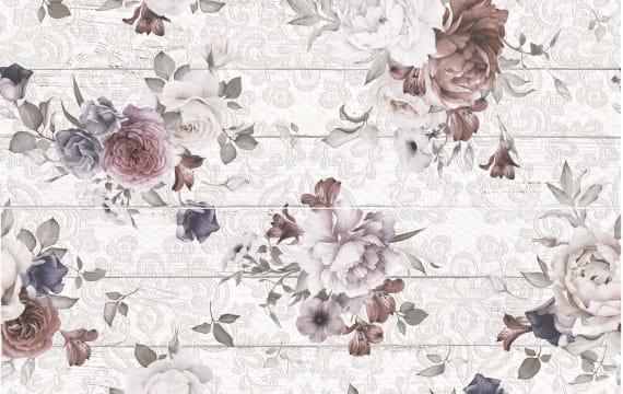 1606-0006 Панно настенное Шебби Шик 40х60 цветы (комплект из 2 шт)