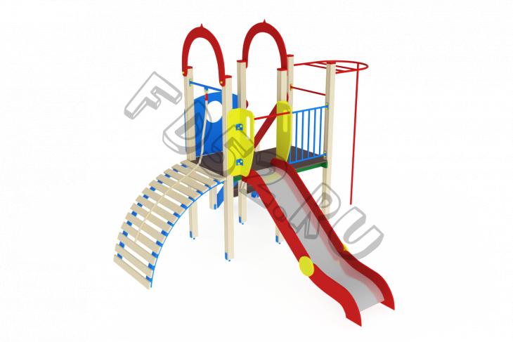 Детский игровой комплекс «Играйте с нами» H=1200 4380х4110х3000
