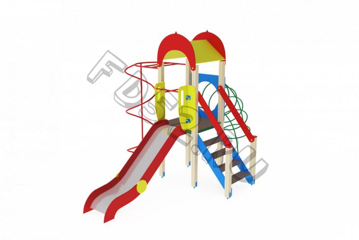 Детский игровой комплекс «Играйте с нами» H=1200 4890х3480х3000