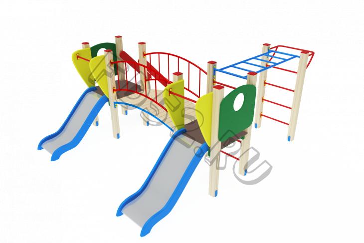 Детский игровой комплекс «Карапуз» H=750 3100х4030х1500