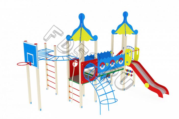 Детский игровой комплекс «Морской» H=1500 6225х5470х4220