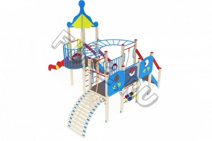 Детский игровой комплекс «Морской» H=1500 6160х5010х4220