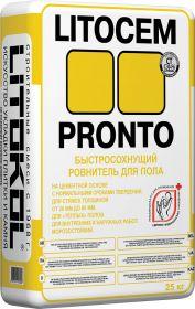 Цементный Ровнитель для Пола Litocem Pronto 25кг Litokol Быстросохнущий