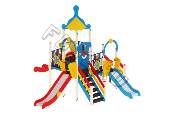 Детский игровой комплекс «Морской» H=900, 1200, 1500 6570х5910х4220