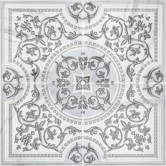 3609-0006 Панно Бьянка Каррара 90х90 (комплект из 4 шт) белое