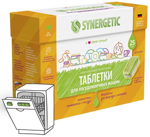 Synergetic Таблетки для посудомоечных машин 25 шт