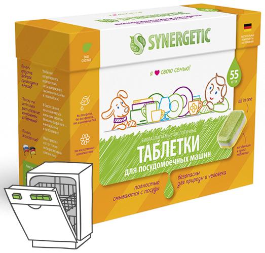 Synergetic Таблетки для посудомоечных машин 55 шт