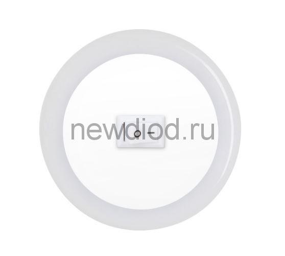 Ночник светодиодный NLE 04-LW-S белый с выключателем 230В IN HOME