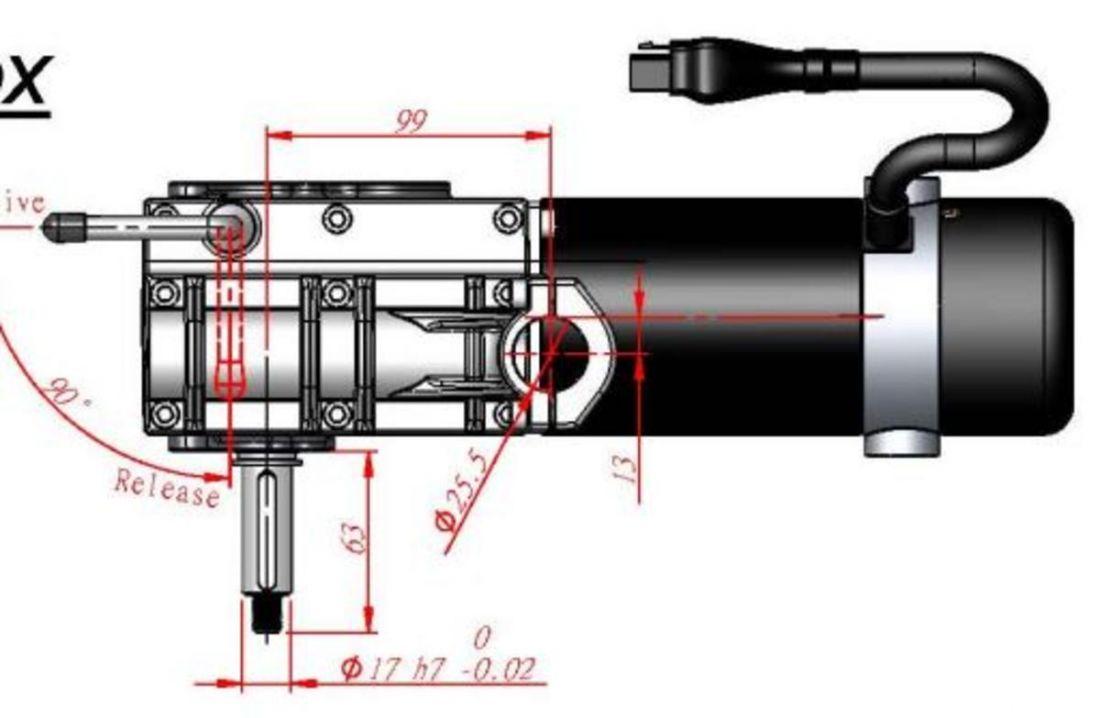 Мотор-редуктор CTSR-V2(OBS)-RH-32:1-4600rpm-320w