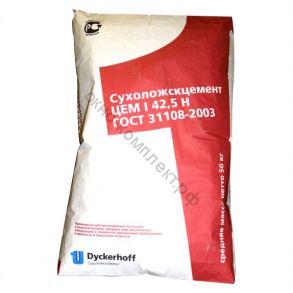 Портландцемент красный мешок ПЦ500Д0/ЦЕМ I 42,5Н  1уп=50кг Сухой Лог