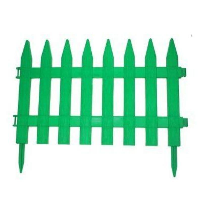 Забор декоративный № 1, 7 секций, зеленый