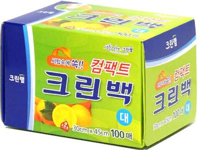 Clean Wrap Пакеты фасовочные в коробке с клапаном для отрыва 30х45 см, 100 шт