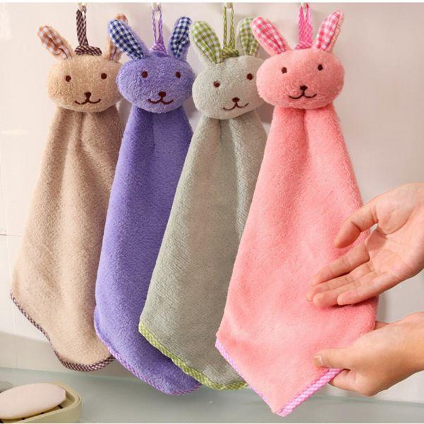 Детское полотенце из микрофибры Зайчик
