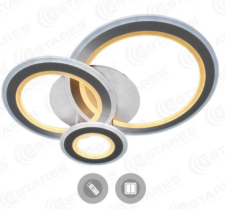 Светильник светодиодный Estares Triplex round 108w R-700/600-white/white-220-ip44