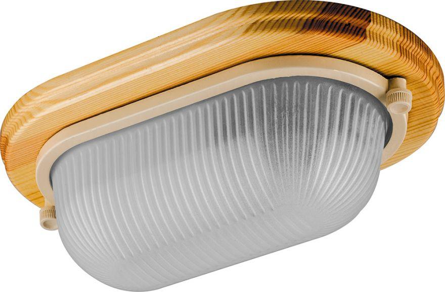 Светильник накладной IP54, 220V 60Вт Е27, дерево, клен, овал НБО 04-60-011