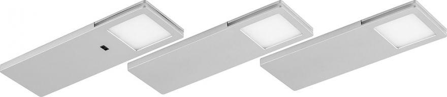 Подсветка светодиодная Feron AL8101 с датчиком движения руки 4000K 2,5W, пластик, комплект 3 шт + блок питания