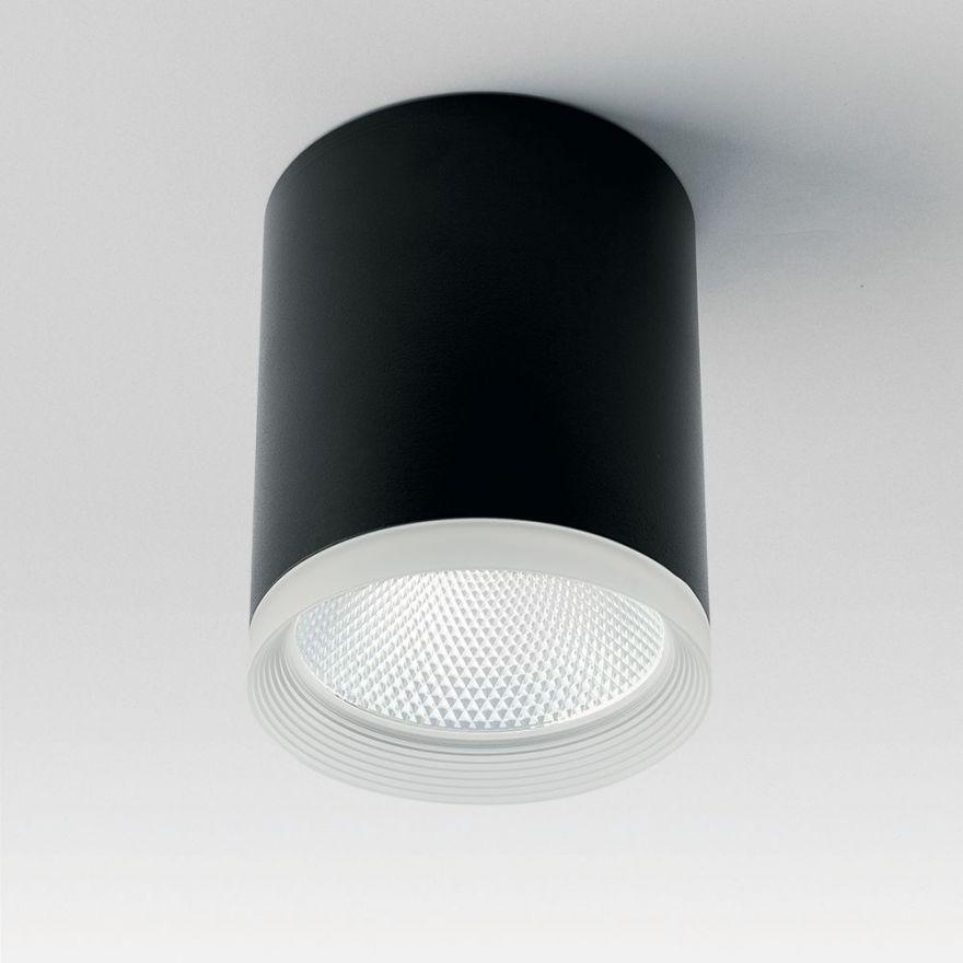 Светильник светодиодный Feron AL533 накладной 25W 4000K черный 100*100