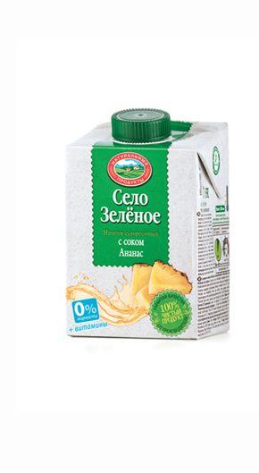 Напиток на сыворотке ананас стерил 500г Село зеленое
