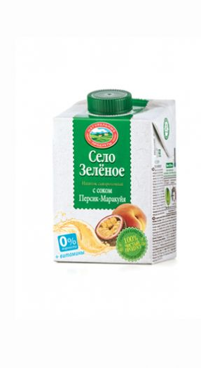 Напиток на сыворотке персик-маракуйя стерил 500г Село зеленое