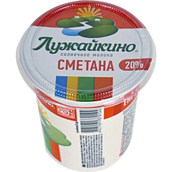 Сметана Лужайкино 20% 350 г Омск