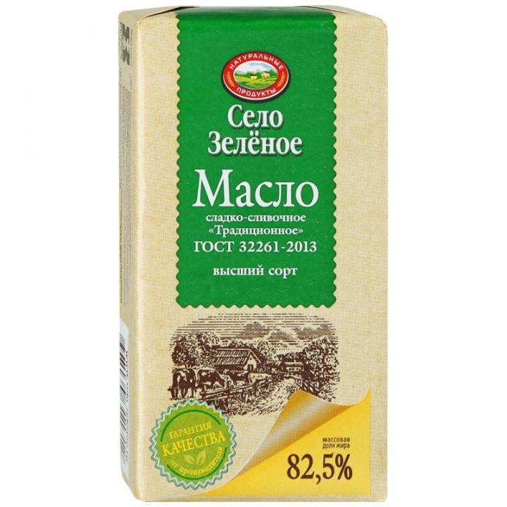 Масло сливочное Традиционное 82,5% 175г Село зеленое