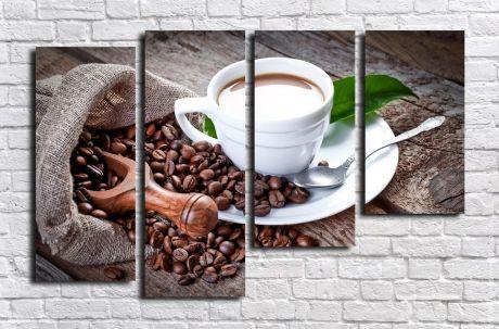Модульная картина Ароматный кофе и зерна