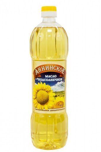 """Масло подсолнечное """"Аннинское"""" 0,9 л"""