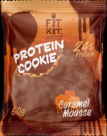 Печенье высокобелковое глазированное Choco Protein Cookie от Fit Kit 50 гр