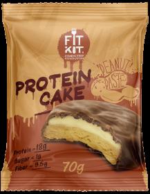 Fit Kit Protein Cake 70 гр Арахисовая паста