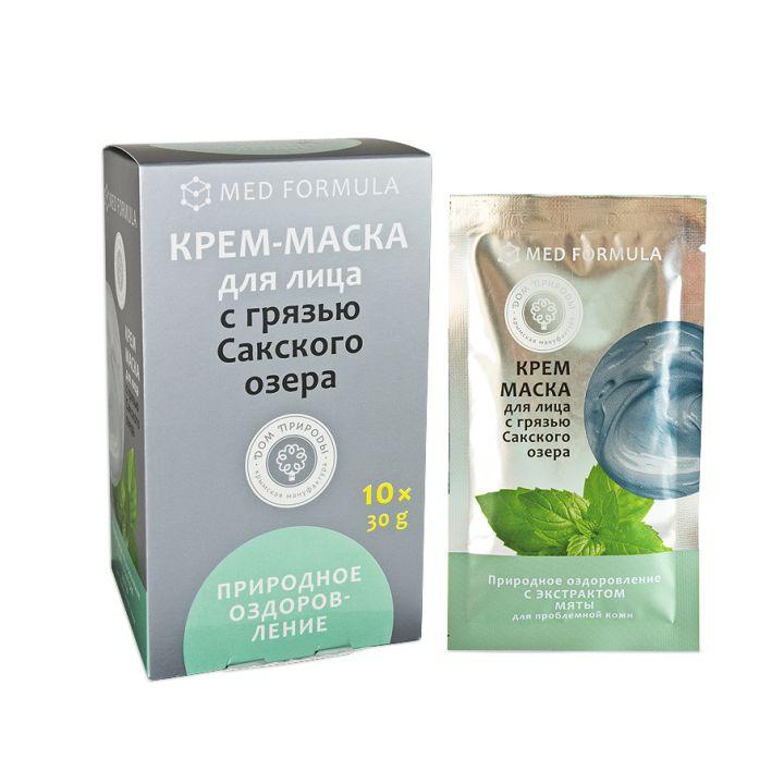 """Крем-маска с Грязью Сакского озера """"Природное оздоровление"""", 30 гр."""