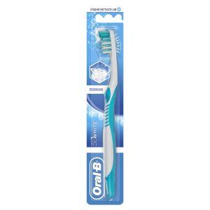 Зубная щетка ORAL B 3 D White Отбеливание 40 средняя 1шт