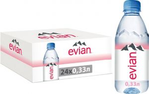 Вода минеральная Эвиан негаз. столовая 0,33л ПЭТ