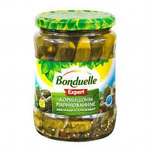 Огурцы Bonduelle 540/580гр Корнишоны 3- 6 см с/б