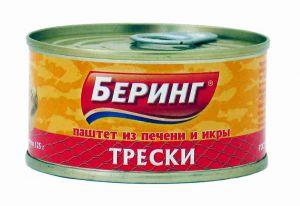 Икра трески 125 гр ж/б