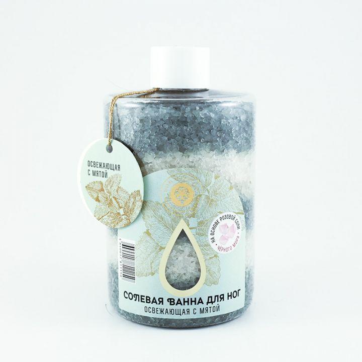 """Соль морская для ног """"Освежающая с мятой"""", 400 гр."""