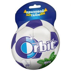 Орбит в под. Мята 25 драже футбольный мяч 34гр