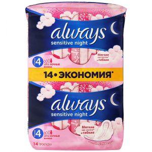 Прокладки ALWAYS Ultra Sensitive 14 шт Night Duo