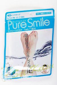 Питательная маска для ступней с эссенцией морских водорослей 18г Pure Smile