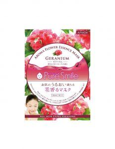 Восст. маска д/лица с маслом герани, коэнзимом, пантенолом, алоэ 23мл Pure Smile Aroma Flower/600