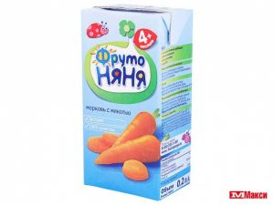 Нектар Фрутоняня 0,2 л Морковь (Прогресс)