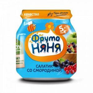 Пюре Фрутоняня яблоко-черная-красная смородина 100гр ст/б