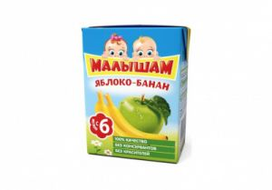Нектар Фрутоняня Малышам 0,125 л Яблоко-Банан неосветл (Прогресс)